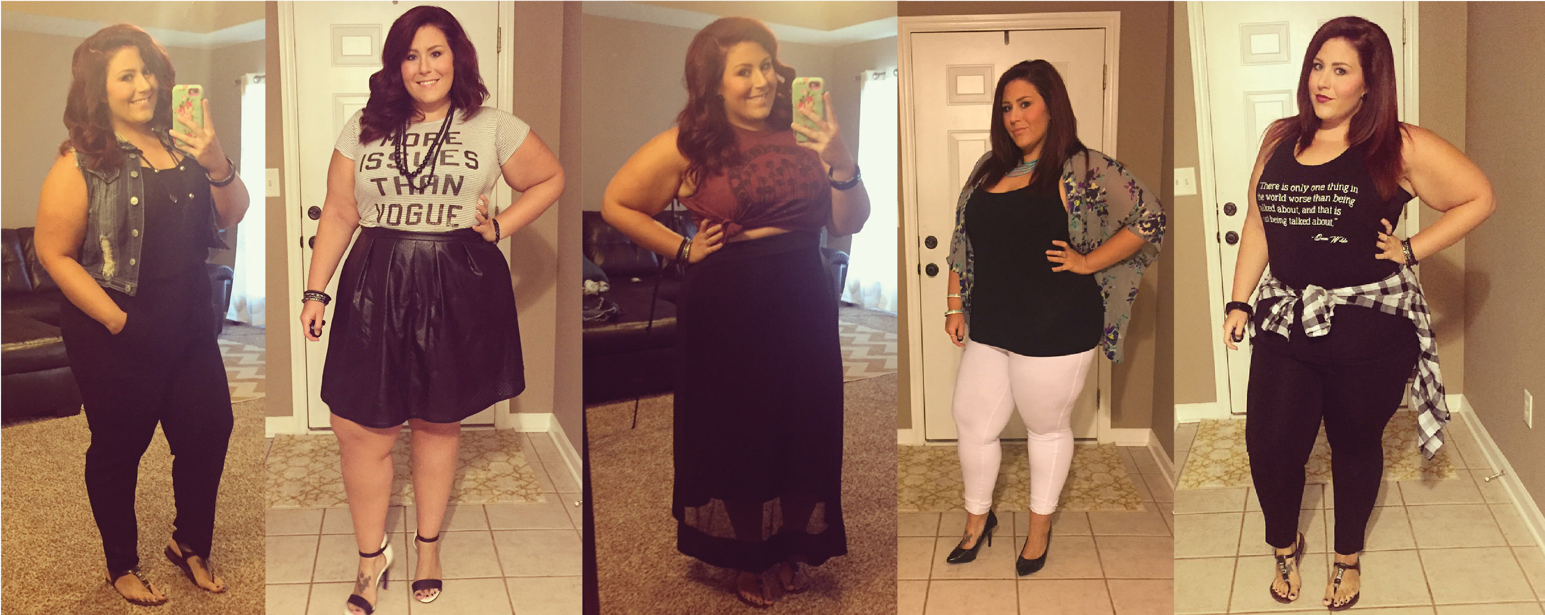 plus size outfits with a little edge | curves, curls and clothes